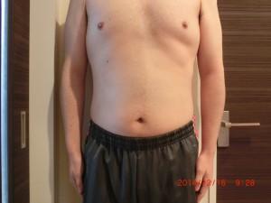 ライザップ59日目の体型「正面」の画像