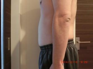 ライザップ59日目の体型「横」の画像