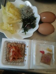 ライザップ62日目の朝食の画像