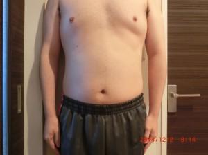 ライザップ45日目の体型「正面」の画像