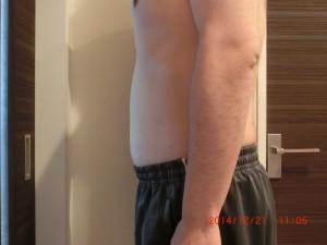 ライザップ64日目の体型「横」の画像