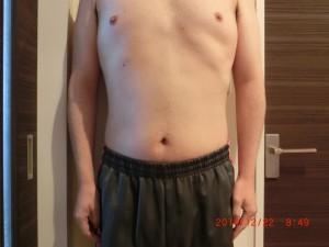 ライザップ65日目の体型「正面」の画像