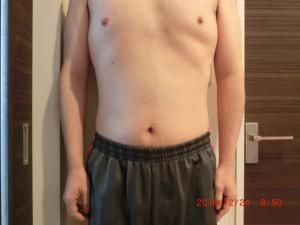 ライザップ67日目の体型「正面」の画像