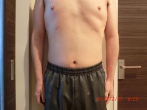 ライザップ70日目の体型「正面」の画像