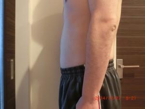 ライザップ70日目の体型「横」の画像
