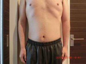 ライザップ71日目の体型「正面」の画像