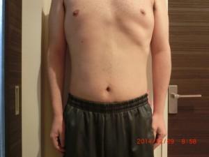 ライザップ72日目の体型「正面」の画像