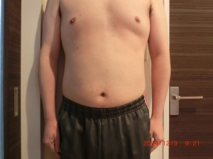 ライザップ46日目の体型「正面」の画像