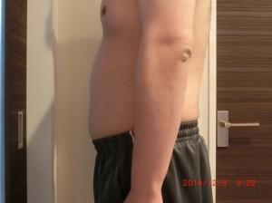 ライザップ46日目の体型「横」の画像