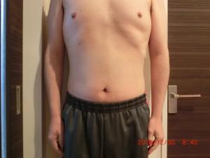ライザップ73日目の体型「正面」の画像