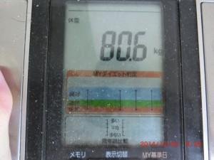 ライザップ73日目の体重の画像