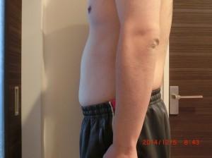 ライザップ48日目の体型「横」の画像
