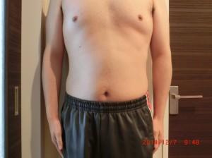 ライザップ50日目の体型「正面」の画像
