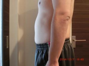 ライザップ50日目の体型「横」の画像