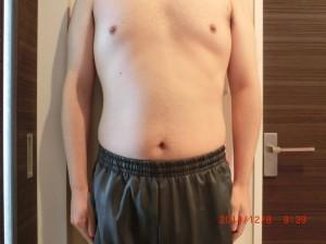 ライザップ51日目の体型「正面」の画像