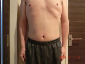 ライザップ75日目の体型「正面」の画像