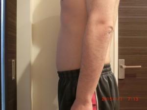 ライザップ75日目の体型「横」の画像