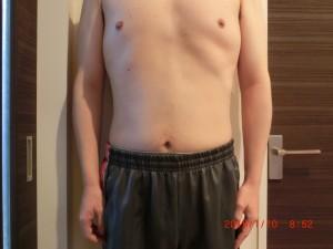 ライザップ83日目の体型「正面」の画像