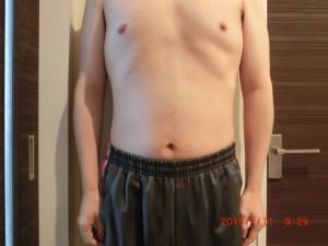 ライザップ85日目の体型「正面」の画像
