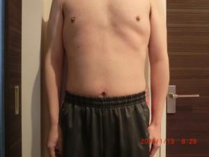 ライザップ87日目の体型「正面」の画像