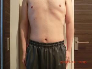ライザップ89日目の体型「正面」の画像