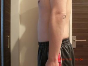 ライザップ89日目の体型「横」の画像