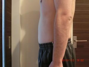 ライザップ76日目の体型「横」の画像