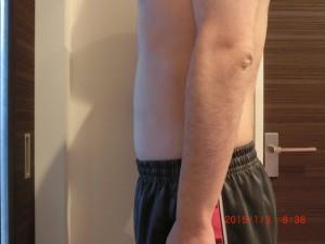 ライザップ77日目の体型「横」の画像