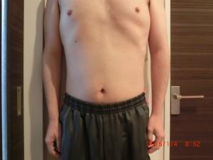 ライザップ78日目の体型「正面」の画像