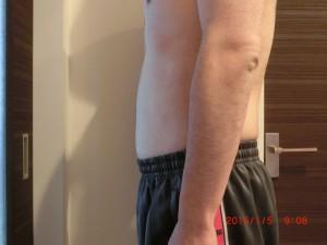 ライザップ79日目の体型「横」の画像