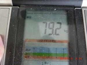 ライザップ80日目の体重の画像