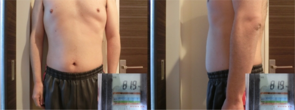 「ライザップ」に通って60日後の体型と体重(81.9kg)