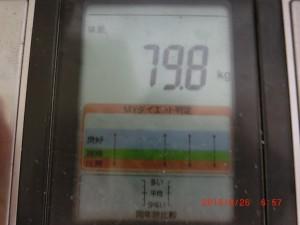 9/26の体重