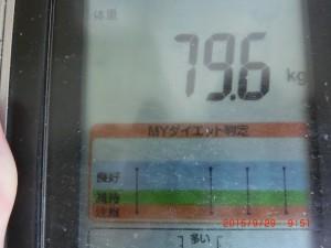9/29の体重